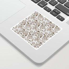 Mehndi or Henna (Brown and White) Sticker