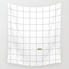 Pie Cooling on the Windowpane Pattern Wall Tapestry