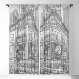 Times Square III Special Edition I (black & white) Sheer Curtain