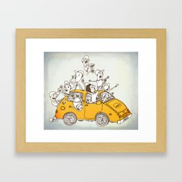 The Joyride Framed Art Print