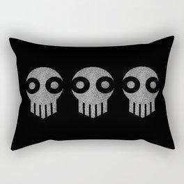 Ghost Skull White Rectangular Pillow