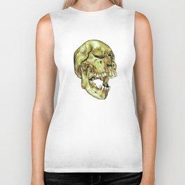 Green skull Biker Tank