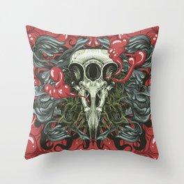 3 Eye Raven Throw Pillow