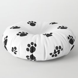 Puppy Dog Paw Prints Floor Pillow
