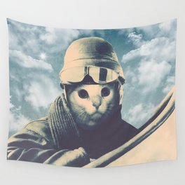 Flight Cat Wall Tapestry