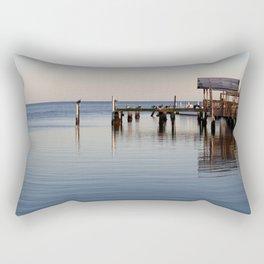 Calm Dock Rectangular Pillow