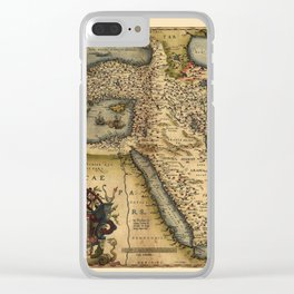 Map Of The Middle East 1600 Clear iPhone Case