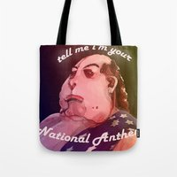 american beauty Tote Bags featuring American Beauty by Me and Gwee