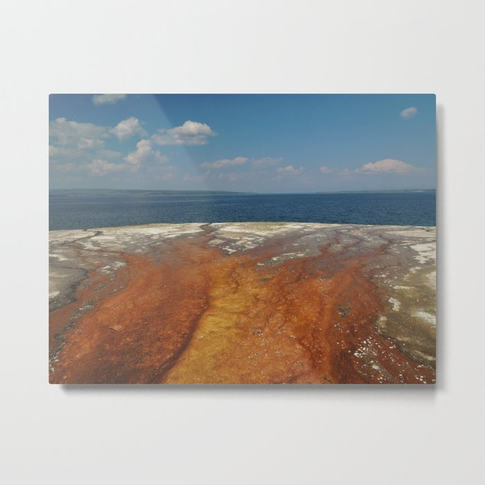 Drainage from thermal features into Lake Yellowstone Metal Print