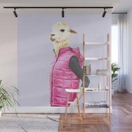 Fashionable Llama Wall Mural