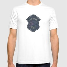 Love At First Ride Bike MEDIUM White Mens Fitted Tee