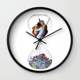 Hourglass of Love (Hayez) Wall Clock