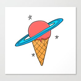 ice-cream star Canvas Print