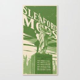 Sleaford Mods USA 2017 Tour Poster Canvas Print