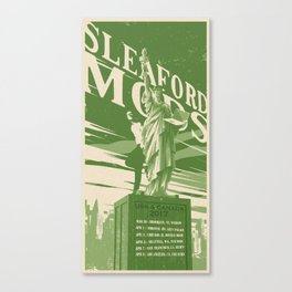 Sleaford Mods USA 2017 Tour Poster Canvas Print