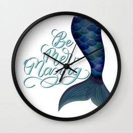 Be Mer-Mazing Mermaid Tail Wall Clock