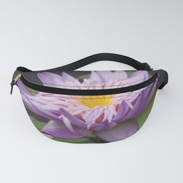 Rosy lavender water lily Fanny Pack