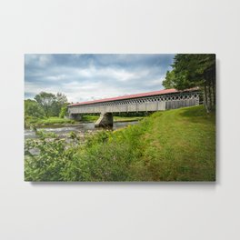 McVetty-McKenzie covered bridge made of wood and dating from 1893 is located in Gould, Lingwick, Estrie, Quebec Canada Metal Print