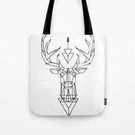 White Deer Symbol Tote Bag