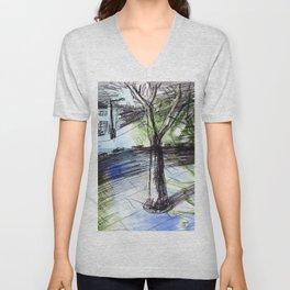 Night tree Unisex V-Neck
