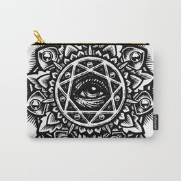 Eye of God Flower Carry-All Pouch
