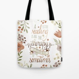 A LITTLE READING Tote Bag