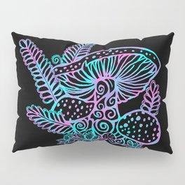 Glowing Mushrooms Pillow Sham