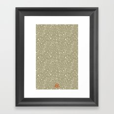 Trail Status / Beige Framed Art Print