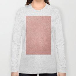 Abstract modern rose pink geometrical pattern Long Sleeve T-shirt