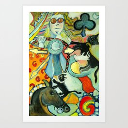 The Queen of Clubs-Driving Art Print