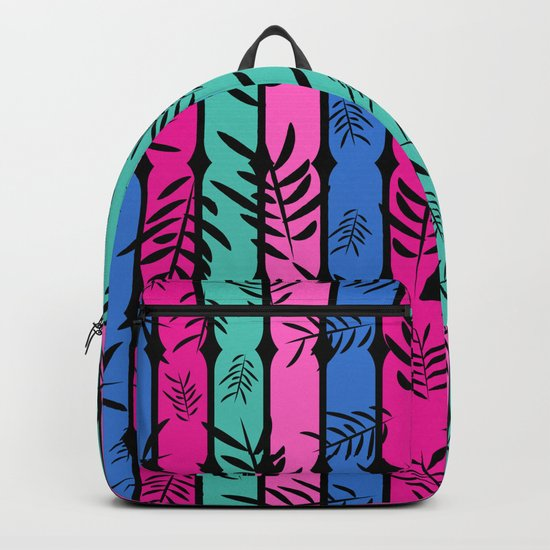 Fall over colorful stripes Backpack