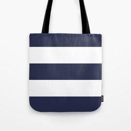 NAVY & WHITE STRIPE Tote Bag