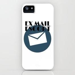 Retired Mailman Ex Mail Escort Retiring Mail Carrier Gift iPhone Case
