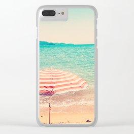 Beach umbrella Clear iPhone Case