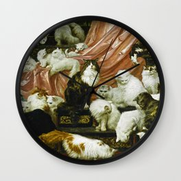 Classical Masterpiece 1893 - My Wife's Lovers by Carl Kahler Wall Clock