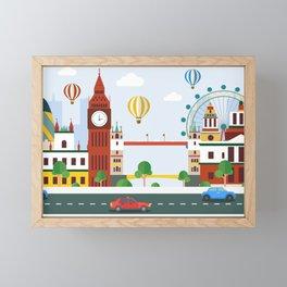 Silhouette of a City Framed Mini Art Print