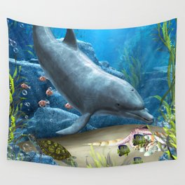 The World Of The Dolphin Wall Tapestry