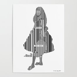 Whistler in Barcode, Harmony in Grey and Green Poster