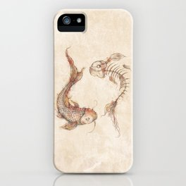 Yin Yang Fish iPhone Case