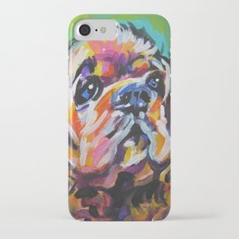 fun American Cocker Spaniel bright colorful Pop Art painting by Lea iPhone Case