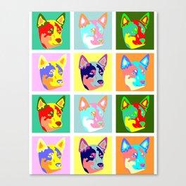 Australian Cattle Dog Pop Art Canvas Print