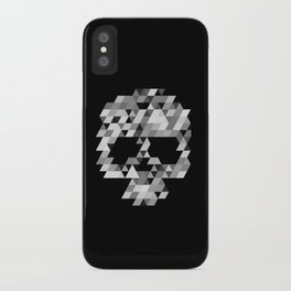 Skull bw iPhone Case