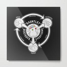 Rock Paper Scissors Snap Metal Print