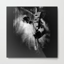 The GUITAR GOD - black version Metal Print