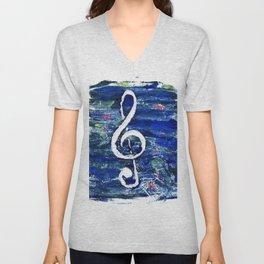 G clef or the sun key Unisex V-Neck