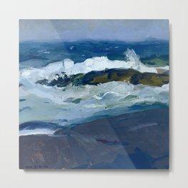 """George Wesley Bellows """"Rock Reef, Maine"""" Metal Print"""