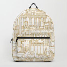 Ancient Greece gold white Backpack