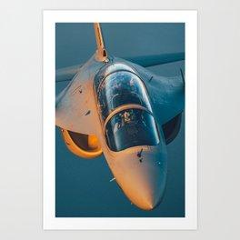 Master at sunset - Italian Air Force jet Art Print