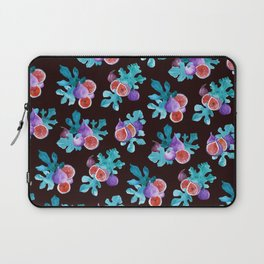 Watercolor Figs Fruit and Leaves Laptop Sleeve