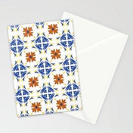 Talavera Floral Tiles Pattern Stationery Cards